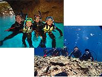 沖縄恩納村ダイビング_ボート青の洞窟シュノーケル&体験ダイビングツアー